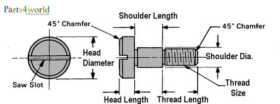 slotted head shoulder bolts & stripper bolts and cap screws